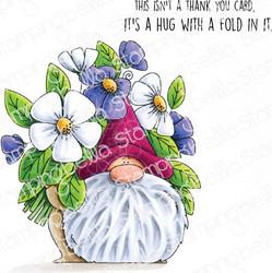 Stamping Bella Flowery Gnomes -leimasinsetti