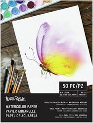 Brea Reese Watercolor Paper  -paperipakkaus, 50 arkkia, 190 gsm