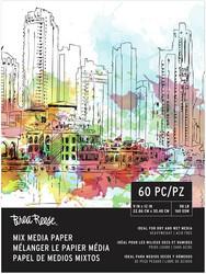 Brea Reese Mix Media Paper -paperipakkaus, 60 arkkia, 160 gsm