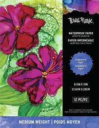 Brea Reese Waterproof Paper -paperipakkaus, 12 arkkia