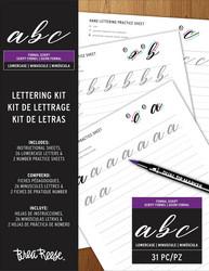 Brea Reese Lettering Kit -harjoitusarkit, pienet kirjaimet