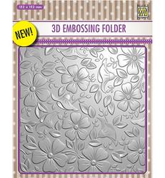 Nellie's Choice 3D kohokuviointikansio Flowers