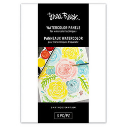 Brea Reese Watercolor Panels, 3 pohjaa vesiväreille, 5