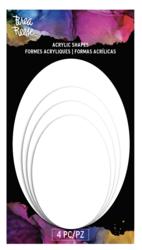 Brea Reese Akryyli-pohjat, ovaali, 4 kpl