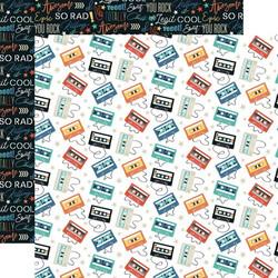 Echo Park Teen Spirit Boy skräppipaperi Cassette Tapes