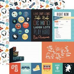 Echo Park Teen Spirit Boy skräppipaperi Journaling Cards