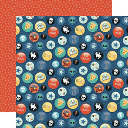 Echo Park Teen Spirit Boy skräppipaperi Rad Buttons