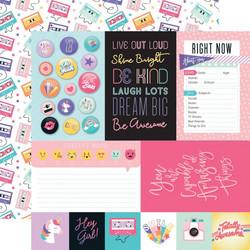Echo Park Teen Spirit Girl skräppipaperi Journaling Cards