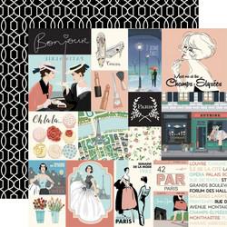 Carta Bella En Vogue skräppipaperi Journaling Cards