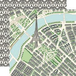 Carta Bella En Vogue skräppipaperi Map of Paris
