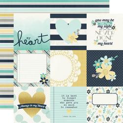 Simple Stories Heart skräppipaperi 4