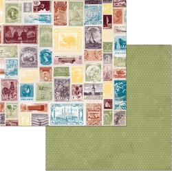 BoBunny skräppipaperi World Traveler Postage