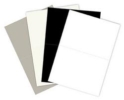 Korttipohja, mustavalko, A6, 20 kpl