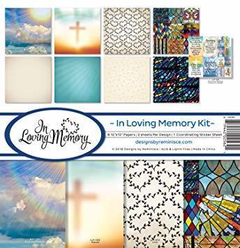 Reminisce In Loving Memory -paperipakkaus 12