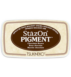 StazOn Pigment -mustetyyny, sävy Chocolate Brown