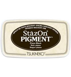 StazOn Pigment -mustetyyny, sävy Piano Black