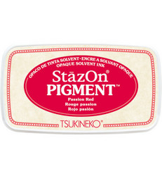 StazOn Pigment -mustetyyny, sävy Passion Red