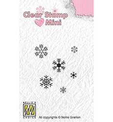Nellie's Choice mini leimasinsetti Snowflakes