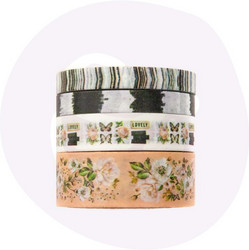 Prima Apricot Honey Decorative Tape -teipit, 4 kpl