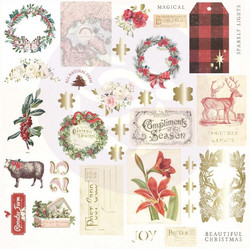 Prima Christmas In The Country Ephemera die-cuts, leikekuvat