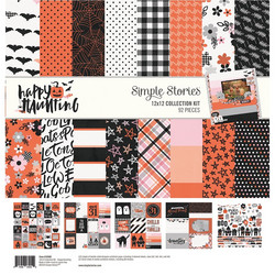 Simple Stories Happy Haunting Collection Kit -paperipakkaus, 12