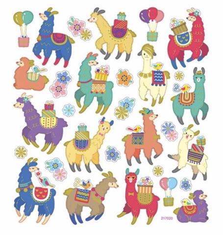 Sticker King tarrat Llama Celebration