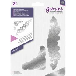 Gemini Foil Stamp Die -kuviolevyt Biarriz Border & Corner