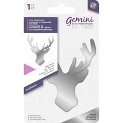 Gemini Foil Stamp Die -kuviolevy Stag Head