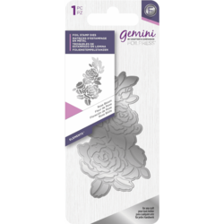 Gemini Foil Stamp Die -kuviolevy Rose Bloom