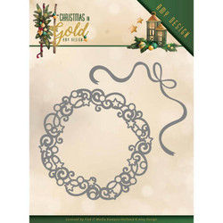 Amy Design Christmas In Gold stanssisetti Christmas Wreath