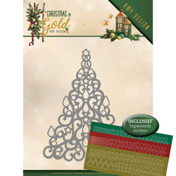 Amy Design Christmas In Gold stanssi Christmas Tree