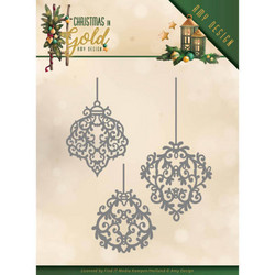 Amy Design Christmas In Gold stanssisetti Golden Ornaments