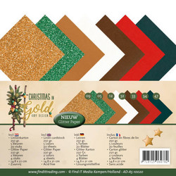 Amy Design kartonkipakkaus Christmas in Gold, A5