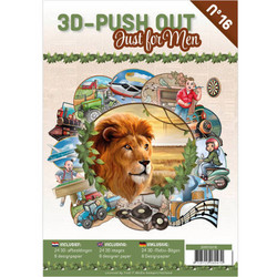 3D-Push Out -kirja Just For Men