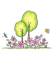 C.C.Designs leimasin Maple Background