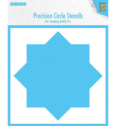 Nellie's Choice Precision Circle -sapluuna 8 Point Circle, leimailulaitteelle