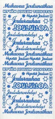 Ääriiviivatarra, Joulu, sininen