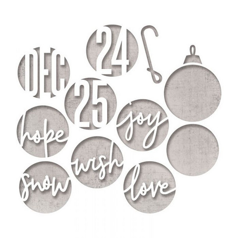 Sizzix Tim Holtz Thinlits stanssisetti Circle Words, Christmas