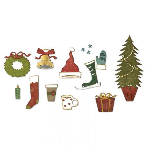 Sizzix Tim Holtz Thinlits stanssisetti Festive Things