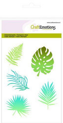 CraftEmotions leimasinsetti Tropical Leaves Silhouette