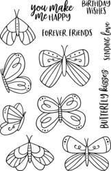 Jane's Doodles Doodle Butterflies -leimasinsetti