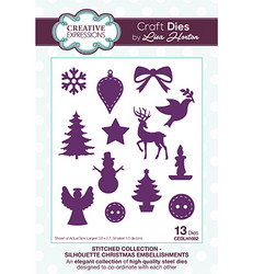 Creative Expressions stanssisetti Silhouette Christmas Embellishments