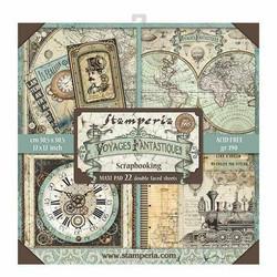 Stamperia Maxi paperipakkaus Voyages Fantastiques, 12