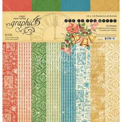 Graphic 45 -paperipakkaus Joy To The World, Pattern & Solids, 12