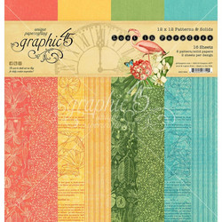 Graphic 45 -paperipakkaus Lost in Paradise, Pattern & Solids, 12