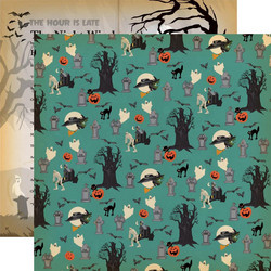 Carta Bella Happy Halloween skräppipaperi Graveyard