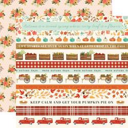 Carta Bella Fall Market skräppipaperi Border Strips