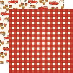 Carta Bella Fall Market skräppipaperi Red Gingham