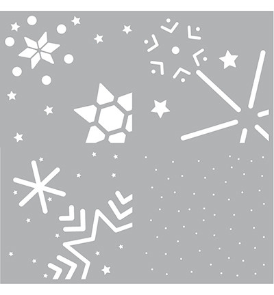 Pronty sapluunasetti Layer Snowstars
