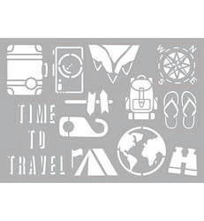 Pronty Self-adhesive sapluuna Travel